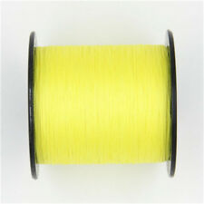 100% PE Fishing Line 300M 500M 1000M Spectra Dyneema Braid Yellow Green LINE