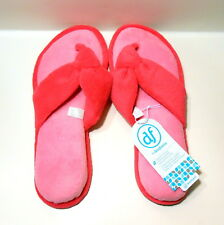 Dearfoams Womens Slippers Pink Thong Spa Style New Sizes Large and XLarge