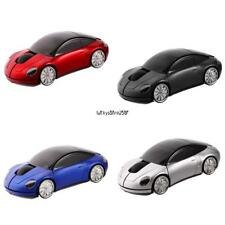 New USB Car Shape Wireless Optical Mouse Color Changing Home Office