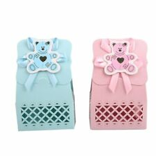 12pcs Baby Infant Birthday Hollow Laser Sculpture Bear Candy Box Party Decor