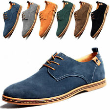 2018 Men's European style oxfords leather Shoes Suede Dress Formal Casual shoes