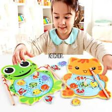 Baby Wooden Fishing Game Magnetic Puzzle Board Kids Jigsaw Puzzle KECP