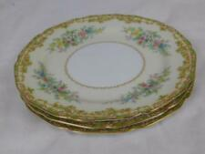 """3 Rare Vintage 1930s Noritake Ancona 7.5"""" Tea Plates Accurately Dated Back Stamp"""