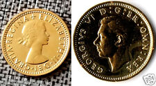 1947 1967 Lucky Six pence Coins Gold Happy Birthday Gift 40s 50s 60s Retro old