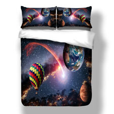 Galaxy Quilt Doona Duvet Cover Set Single Queen King Size Nature Bed PillowCases