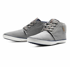 JACK & JONES New Mens Mid Top Canvas Shoes Fashion Plimsoll Trainers Frost Grey
