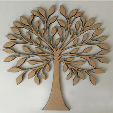 MDF Family Tree Set Kit, Free Hearts,Scroll Family Word - Wood Craft Shape Blank