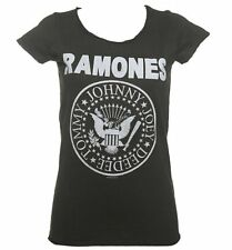 Official Women's Charcoal Classic Ramones Logo T-Shirt from Amplified