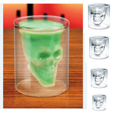 Skull Crystal Wine Glass Cup Whiskey Glasses Drinking Tumbler Cocktail Cups