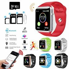 Bluetooth A1 Smart Watch Phone Mate For iPhone Samsung+Memory+SIM Card Capable