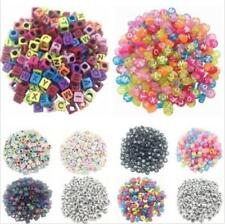 100PCS Jewelry Spacer Making Beads Random Alphabet DIY Loose Acrylic Cube Letter