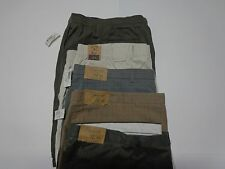 New NWT Men's Roundtree & Yorke Casual Flat Front Shorts Size 52 Several Styles