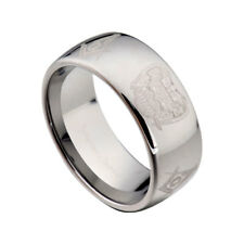 10MM Tungsten Carbide High Polish Masonic Freemason Men's Wedding Band sz 8-13