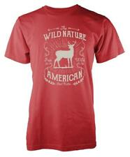 BNWT WILD NATURE DEER STAG HUNTER FREE ANIMAL   ADULT T-SHIRT S-XXL