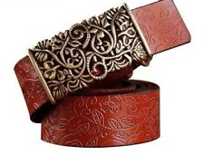 Vintage Floral Belt And Buckle For Women's Accessory Casual Stylish Waist Straps