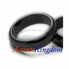Accents Kingdom 6mm Black Magnetic Hematite Dome Ring Band Size 6 -12