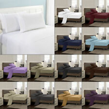 Comfort 	Microfiber Bed Sheet Set Deep Pocket Fitted Sheets Flat Bedding Covers