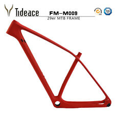 Red 29er Carbon Mountain Cycling Bike Frames PF30 OEM MTB Bicycle Frameset