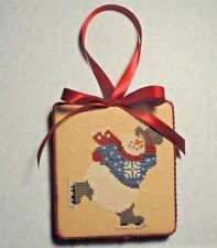 "Finished Completed Cross Stitch ""FROSTY"" Ornament or Door Hanger"