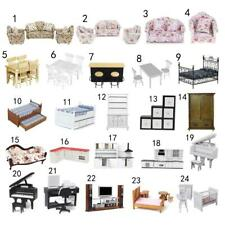 Miniature Furniture Set Kitchen Bedroom Living Room for 1/12 Dollhouse Accessory