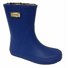 Lamo Short Faux Fur Lined Pull On Rubber Boots. Sz.6 . Blue, , Olive NEW