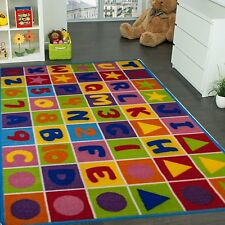 Kids Educational Area Rug ABC 123 Fun City Map Children Area Rug 3'x5' & 5'x7'