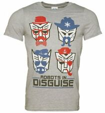 Official Men's Transformers Retro Robots in Disguise T-Shirt