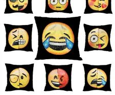 Emoji Pillow Case Reversible Funny Changing Smiley Face Decorative Cushion Cover