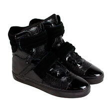 Radii Cylinder Mens Black Leather High Top Strap Sneakers Shoes