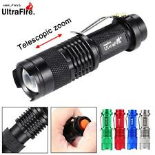 Ultrafire SK68 3500 LM CREE Q5 14500 AA ZOOM LED Flashlight MINI Police Torch UP