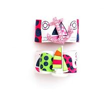 Dog Hair Bows- Summer Navy Blue and Pink Preppy Nautical Whales Dog Bow Anchors