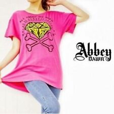 ABBEY DAWN LADIES T-SHIRT ALL ABOUT THE ROCK T PINK TEE TOP