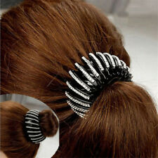 Plastic Double Rows Ponytail Holder Crystal Rhinestone Hair Clips Claws