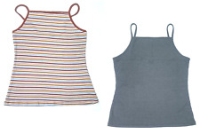 2 Rue 21Womens  Plus Size  Ribbed Tank Top Cami Gray Brown Multi-Colored