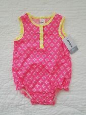 NEW CARTERS BABY GIRLS ONE PIECE ROMPER PINK YELLOW SIZE 6M, 9M, 24M