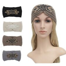 Winter-Maple-leaf-Knitted-Wool-Headband-Hat-Warmer-Multicolor-Hair-Accessories