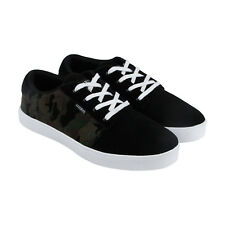 Osiris Mesa Mens Black Suede & Textile High Top Lace Up Sneakers Shoes