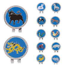 Portable Mini Chinese Zodiac Magnetic Golf Hat Clip with Ball Marker
