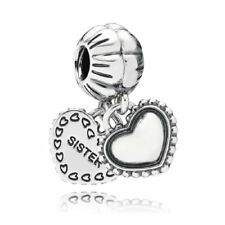 Genuine sterling silver Charm Heart Charm Pendant Bead For Charms Bracelet