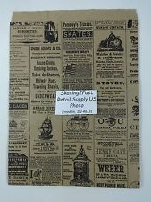 "8.5"" x 11"" Newsprint Design Paper Merchandise Bag Retail Shopping"