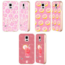 HEAD CASE DESIGNS PINK LEMONADE GOLD BUMPER SLIDER CASE FOR SAMSUNG PHONES