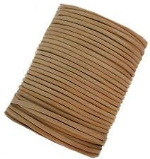 Leather cord lace 3 mm round Light Brown