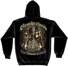Firefighter Hooded Sweat Shirt Time Honored Tradition Brotherhood Black