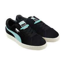 Puma Diamond Mens Black Suede Lace Up Sneakers Shoes