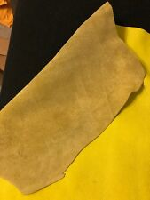 Yellow BY THE PIECE Top Grain Cowhide Leather Craft Panel 2 / 3 oz, 3 / 4 oz