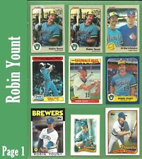 Robin Yount & Gary Sheffield 1983 1985 1986 1989 1990 1991 1992 Brewers - NM/MT