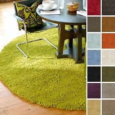 Hand Woven Winslette New Zealand Felted Wool Shag Area Rug (8' Round)