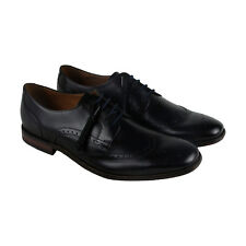 Clarks Narrate Wing Mens Black Leather Casual Dress Lace Up Oxfords Shoes