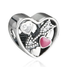 authentic 925 sterling silver Charm Cupid's Arrow Enamel Love Charm bead Charms