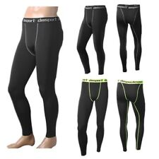 Mens Gym Sport Thermal Tight Compression Base Layer Pants Long Leggings Trousers